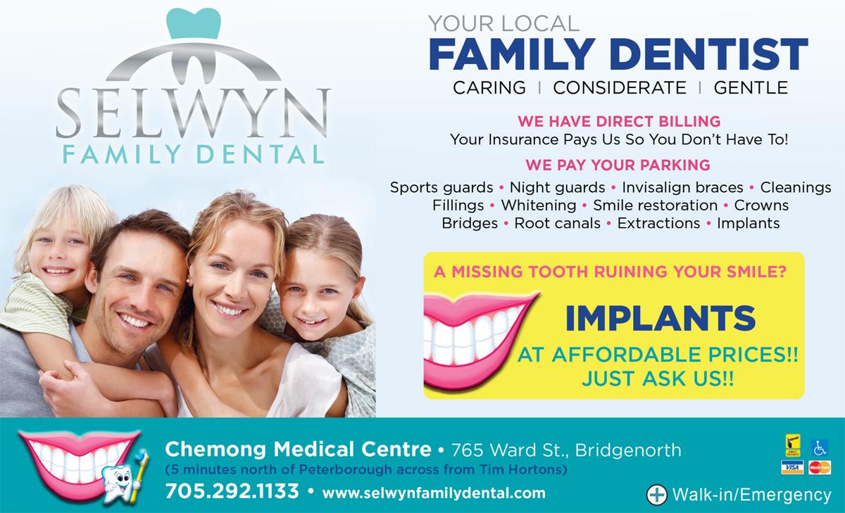 Selwyn Family Dental flyer